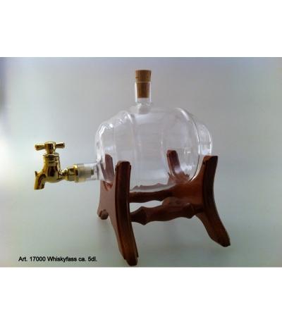 Whisky-Fass auf Holzständer