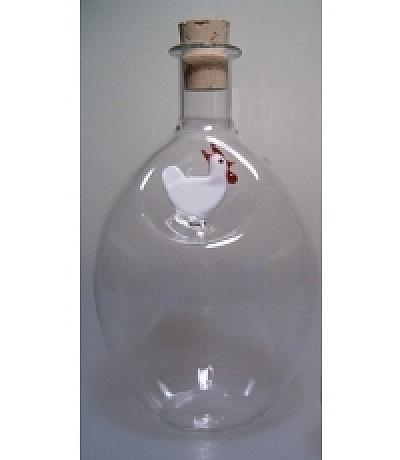 Eierflasche mit Huhn oben 500ml