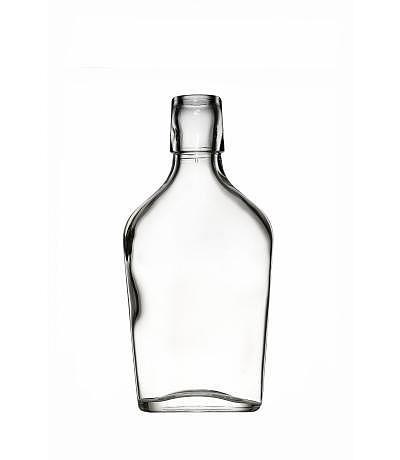 Taschenflasche eckig 200ml