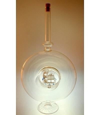 Ringform Flasche mit Schiff 700ml