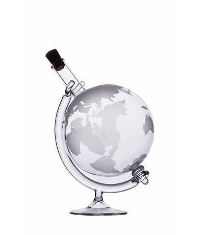 Weltkugeln mit drehbarem Glas-Ständer