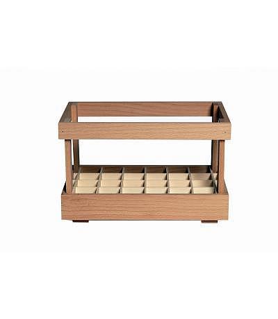 Holzsteige für 24 Kropfhals leer